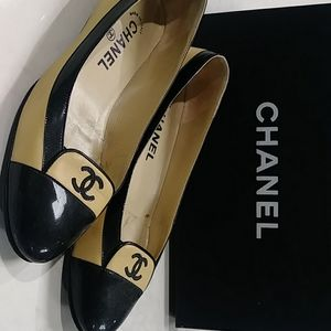 Chanel beige flats (Size 37)